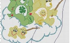 Care Bear fishermen  baby blanket