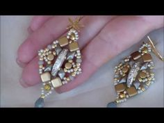 Tutorial orecchini silver and gold / tutorial silver and gold earrings - YouTube