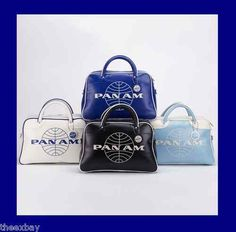 RETRO Style PAN AM ORION BAG Purse Tote In PAN AM Vintage WHITE