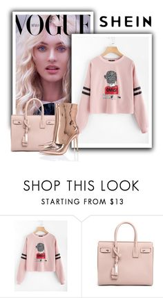 """""""WIN $30 COUPON FROM SHEIN !"""" by jasmine-monro ❤ liked on Polyvore featuring Yves Saint Laurent"""