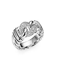 David Yurman - Diamond and Sterling Silver Ring