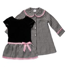 Toddler Houndstooth Dress and Coat Set - Youngland Dresses - Events