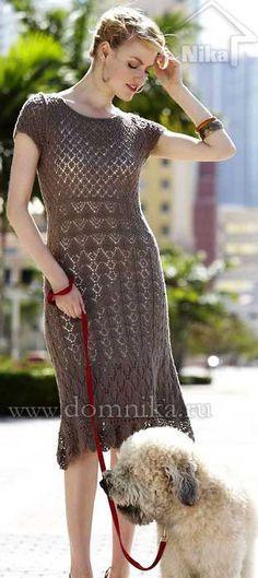 Как связать платье спицами