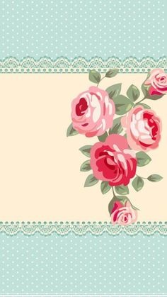 By Artist Unknown. Flowery Wallpaper, Rose Wallpaper, Wallpaper Backgrounds, Wallpapers, Victorian Flowers, Vintage Flowers, Pink Flowers, Cellphone Wallpaper, Iphone Wallpaper