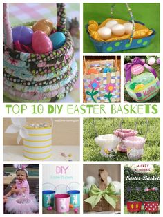 Top Ten Easter Baskets - Teach Me Mommy Easter Craft Activities, Bunny Crafts, Easter Crafts For Kids, Easter Ideas, Easter Baskets To Make, Easter Celebration, Crafts For Kids To Make, Spring Crafts, Top Ten