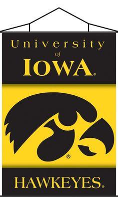 Iowa Hawkeyes Indoor Banner Scroll