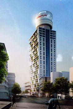Henninger Turm Neubau Rendering