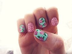 My bestie would LOVE this!  She's always doing something fun to her nails.