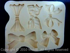 old style for fimo plaster wepam ribbon bow silicone mold