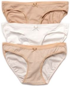 Motherhood Maternity Bikini Panties, 3 Pack - Nude-Cloud-Nudestripe XL