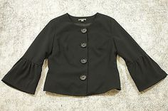 Apt 9 Blazer Jacket Womens Size 8 Black with Cape Style