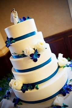 Cake, Purple, Blue: WANT this cake! :)