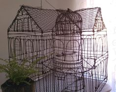 HUGE Supercool Vintage Wire Birdcage from unExpectedParTie: SOLD