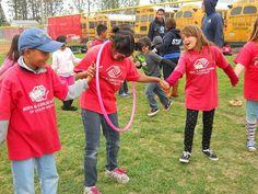 Pass The Circle outdoor teamwork games