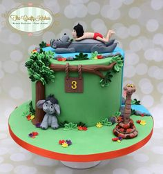 A birthday cake made for a little boy who loves Jungle Book.