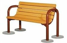These streetscape and outdoor park benches provide heavy steel pipe fabrication. Welded steel components for a stronger frame. Wider curves for a simple, clean appearance.  • Surface mount or embedded installation.  • Frames are powder coated See Materials Options • All frames incorporate armrests for improved accessibility and comfort.