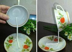 How to DIY Topiary Flower Flying Cup Decor   iCreativeIdeas.com Like Us on Facebook ==> https://www.facebook.com/icreativeideas
