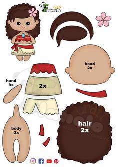 Disney Crafts For Kids, Diy Crafts For Kids Easy, Felt Dolls, Paper Dolls, Foam Crafts, Paper Crafts, Princess Crafts, Felt Crafts Patterns, Bear Felt