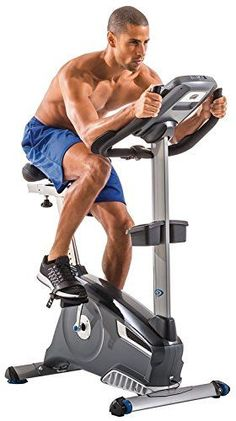 This Nautilus U618 Upright Exercise Bike has a gel cushioned seat for extra comfort, and provides you with multiple workout options with its 25 resistance levels and 29 programs. #uprightbikingworkout
