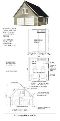 Ez Garage Plans # Over 425 Garage Plans Available Buy a Garage Plan NOW. Over 425 Garage Plans Available Original artic. Rv Garage, Garage Shop Plans, Garage Plans With Loft, Plan Garage, Building A Garage, Garage Apartment Plans, Garage Studio, Garage Apartments, Garage House