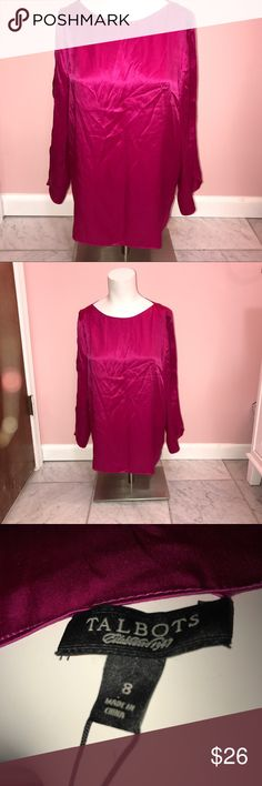 NWT 💎 Fuschia Blouse 💎 Size 8, beautiful NWT Talbots Blouse Talbots Tops Blouses