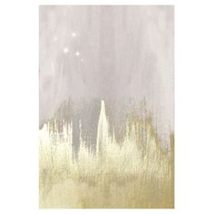 Oliver Gal Off-white Starry Night Canvas Wall Art - Think beyond that other starry night and decorate differently with the Oliver Gal Off-white Starry Night Canvas Wall Art . An abstract splash of gold...