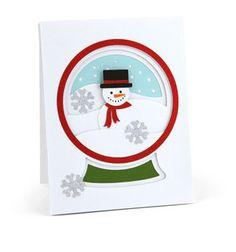#Snowman #Snow #Globe #Card , #Snowflakes , #Holiday , #Christmas , #Joy , #Cheer , Snow , #Festive , #Shaker Card by PatchyPeanut on Etsy