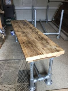 Scaffold plank bench seat 6ft