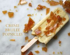 loving these popsicle recipes, would never have thought of creme brulee popsicles