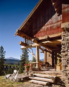 porch living in Montana, Big Sky, Montana