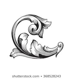 Find Vintage Baroque Frame Scroll Ornament Engraving stock images in HD and millions of other royalty-free stock photos, illustrations and vectors in the Shutterstock collection. Baroque Frame, Motif Baroque, Baroque Pattern, Baroque Art, Filigrana Tattoo, Gravure Metal, Molduras Vintage, Ornament Drawing, Tattoo Drawings