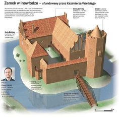 the type of castle the network was created by King Casimir III Medieval Knight, Medieval Town, Medieval Castle, Medieval Fantasy, Fantasy Map, Fantasy World, Historical Architecture, Amazing Architecture, Witches Castle