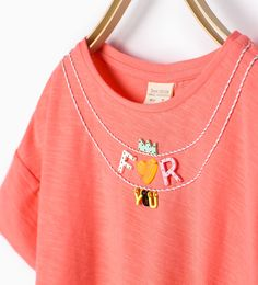 Top with appliqué neckline - New this week - Girl | 4 - 14 years - COLLECTION SS16 | ZARA United Kingdom