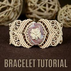 Macrame Stone Bracelet Tutorial #Macrame #Bracelet #Tutorial #Boho #Stone #Jewelry #Knot #Craft #DIY
