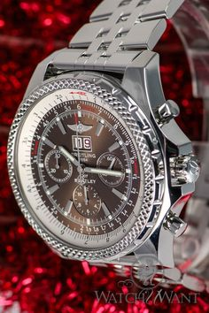 Breitling for Bentley 6.75 Chronograph - 49mm Stainless Steel - Ref A44362 - Big Wheel/Rim Sculpted Caseback - Double Digit 'Big Date' Grande Guichet -