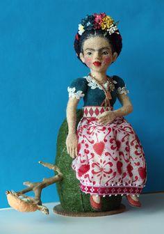 Frido Kahlo Needle Felting
