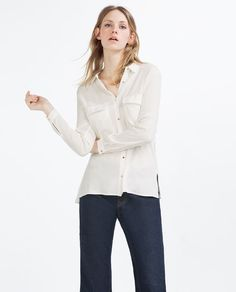 Image 2 of SHIRT WITH GOLDEN BUTTONS from Zara