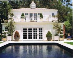 Two story pool house...