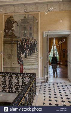 Hôtel Le Peletier de Saint-Fargeau (XVIIe)  29, rue de Sévigné Paris 75003. Maître d'oeuvre : Pierre Bullet. Escalier d'honneur.