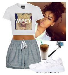 """First, Lemme Take A Selfie."" by queenboldon ❤ liked on Polyvore featuring rag & bone/JEAN and NIKE"