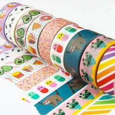 Great for Japanese Stationery lovers and as a stocking stuffer. => Let me know your choices in the 'notes to seller' section at checkout! <= PANDA WASHI IS SOLD OUT Washi tape is perfect for decora What Is Washi Tape, Washi Tape Set, Crafts For Teens, Arts And Crafts, Paper Crafts, Teen Crafts, Masking Tape Art, Duct Tape Crafts, Cute Stationary