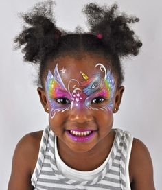 Princess Unicorn - Face Painting Video... like the colours
