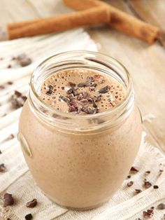 Mexican Chocolate Smoothie Recipe - a healthy, dairy-free delight with little flecks of cacao nibs and notable spice throughout. Naturally vegan and paleo.