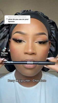 Makeup For Black Skin, Lipstick For Dark Skin, Black Girl Makeup, Girls Makeup, Eyebrow Makeup Tips, Best Makeup Tips, Beauty Makeup, Eye Makeup, Beauty Routine Tips