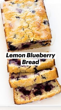 Blueberry Bread, Blueberry Recipes, Coffee Bread, Coffee Cake, Delicious Desserts, Dessert Recipes, Yummy Food, Bread Recipes, Cooking Recipes