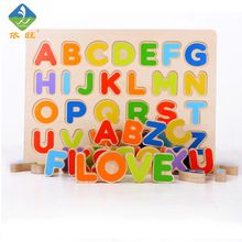 Pen Holders Drop Ship&wholesale Wooden Alphabet English Letters Bricks Jigsaw Blocks Kids Educational Puzzle Toy Apr28