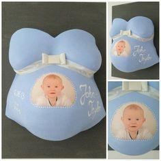 Babybauchabdruck mit Foto auf Leinwand