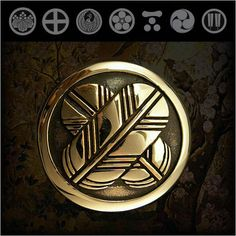 WILD HEARTS | Rakuten Global Market: Family Crests of Japan Samurai Family Crests Coat of Arms Brass Concho WILD HEARTS Leather & Silver Item ID cc2512