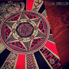 FIRE #zentangle #doodle #drawing #moleskine #posca #illustration #sketchbook…