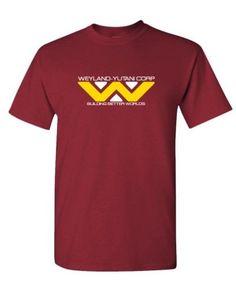 Weyland Yutani - 80's retro horror movie - Cotton Unisex T-Shirt, Size: XL, Red